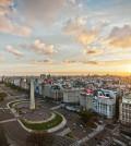 Avenida 9 de Julio mit Obelisko, Buenos Aires, Argentinien