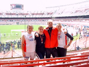 Nach dem Zieleinlauf im Estadio Monumental