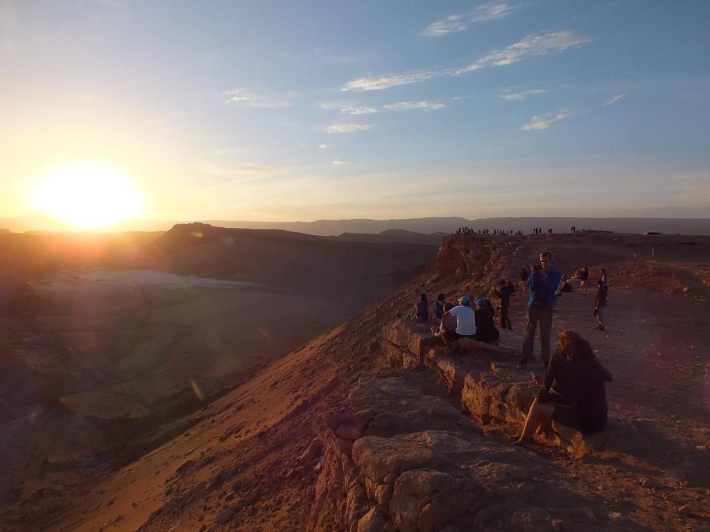 Atacama Wüste Sonnenuntergang, Chile