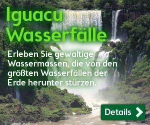 Iguazu Wasserfälle: Erleben Sie gewaltige Wassermassen, die von den größten Wasserfällen der Erde herunter stürzen.