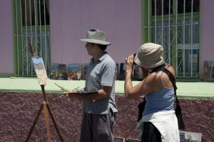 Künstlerische Atmosphäre in Valparaiso