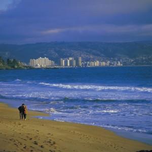Strandabschnitt in Vina del Mar
