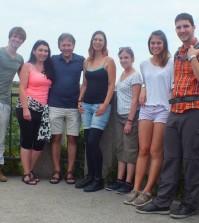 """Das Team von Reallatino Tours auf dem """"Bismarckturm"""""""
