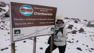 Chimborazo Nationalpark Schild