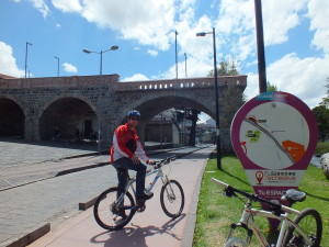 Kay auf Fahrradtour in Cuenca