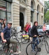 Start der Radtour am Büro